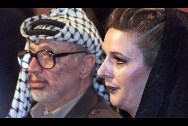 Yasser et Souha Arafat en 1999.