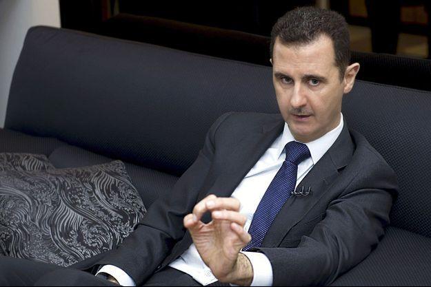 Bachar al-Assad lors d'une interview à Damas le 17 juin 2013.
