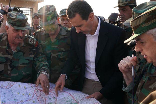 Bachar al-Assad à Al Habit en Syrie, le 22 octobre 2019.