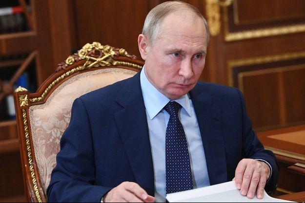 Vladimir Poutine au Kremlin le 11 août 2021