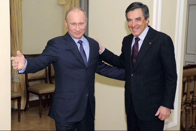Vladimir Poutine et François Fillon en mars 2013.