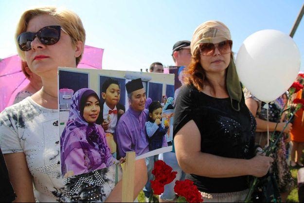Les proches des disparus du MH17.