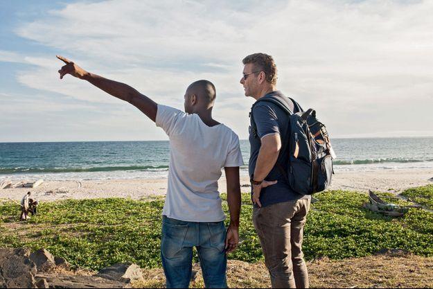Sur une plage de Tamatave, le 6 décembre. Ghyslain Wattrelos (à dr.)