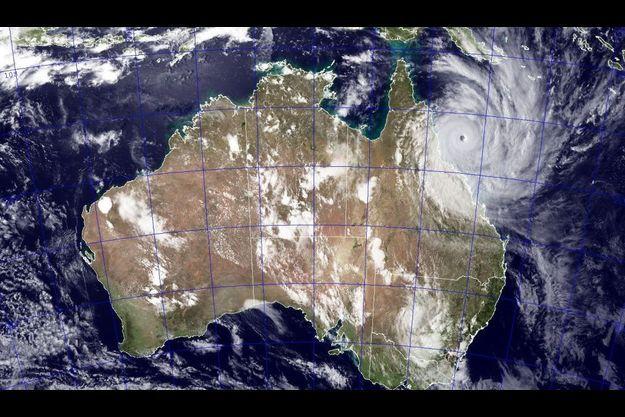 Une photo satellite du cyclone Yasi