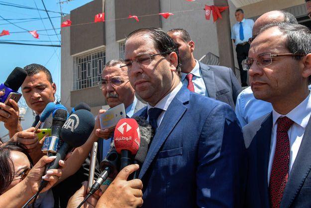Le chef du gouvernement Youssef Chahed à Tunis, le 3 juillet 2019