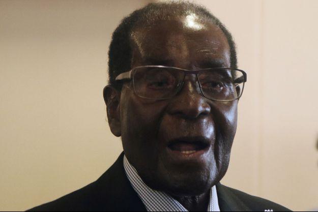 Le président zimbabwéen Robert Mugabe, le 15 février 2017.