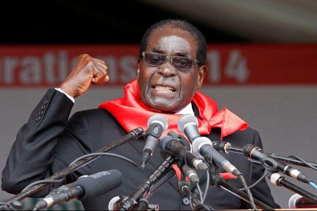 Robert Mugabe lors de son 90e anniversaire en 2014.