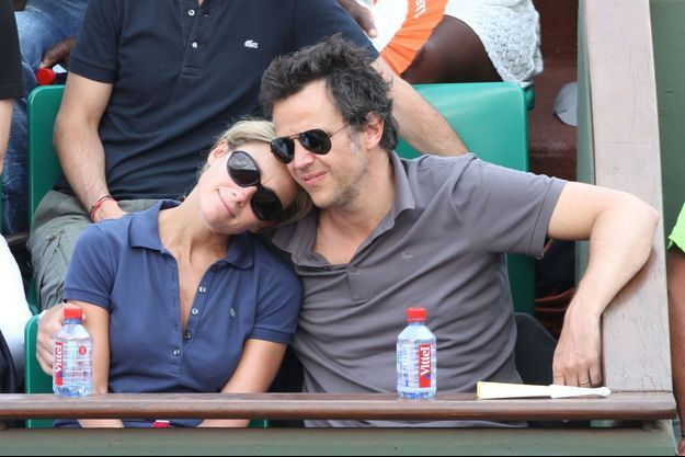 Arthur Sadoun et Anne-Sophie Lapix à Roland Garros