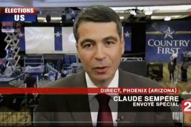 Claude Sempère « a parcouru la planète pour nous informer, en Afghanistan, au Kosovo, au Cambodge, aux États-Unis », a rappelé Laurent Delahousse.