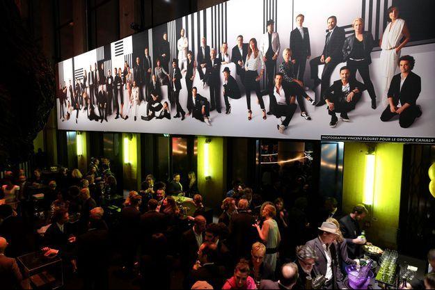La soirée des 30 ans de Canal+ avait lieu au Palais de Tokyo, à Paris.