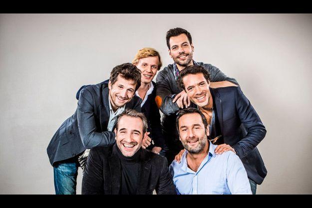 Jean Dujardin, Guillaume Canet, Alex Lutz, Laurent Lafitte, Nicolas Bedos et Gilles Lellouche.