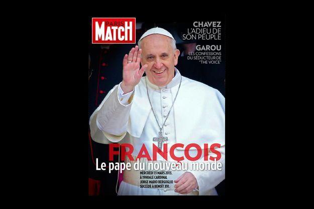 Le pape François en une de l'édition spéciale de Match sur iPad.