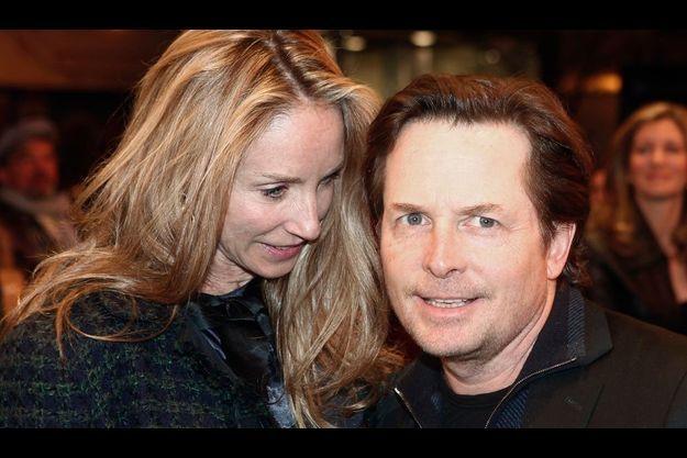 Michael J. Fox avec son épouse Tracy.