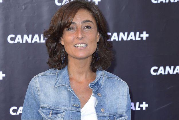 Nathalie Iannetta à la conférence de rentrée de Canal+ en 2013.