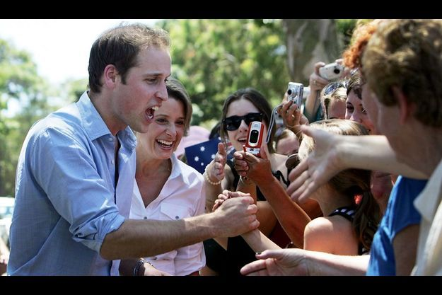 Le prince William en visite officielle en Australie le 20 janvier 2010.