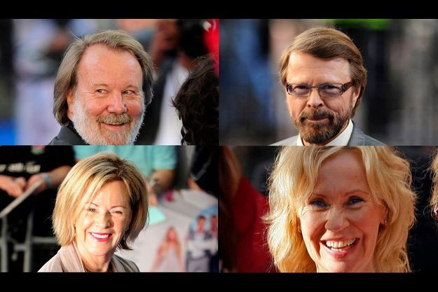 Abba revient. De g. à dr.: et de ht en bas : Benny Andersson, Bjorn Ulvaeus, Frida Reuss et Agnetha Faltskog.