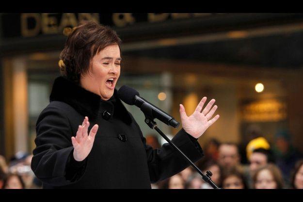 Susan Boyle s'st retrouvée nez-à-nez avec son cambrioleur.