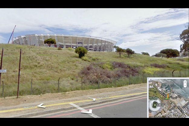 Le stade de Green Point Stadium au Cap où la France affrontera l'Uruguay le 11 juin pour son premier match, vu par Google Street View.