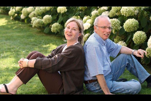 En 2003, en convalescence après sa rupture d'anévrisme abdominale, à Deauville, avec Françoise.