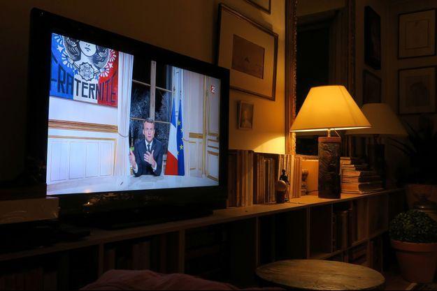 Les premiers voeux présidentiels d'Emmanuel Macron, dimanche soir à l'Elysée.