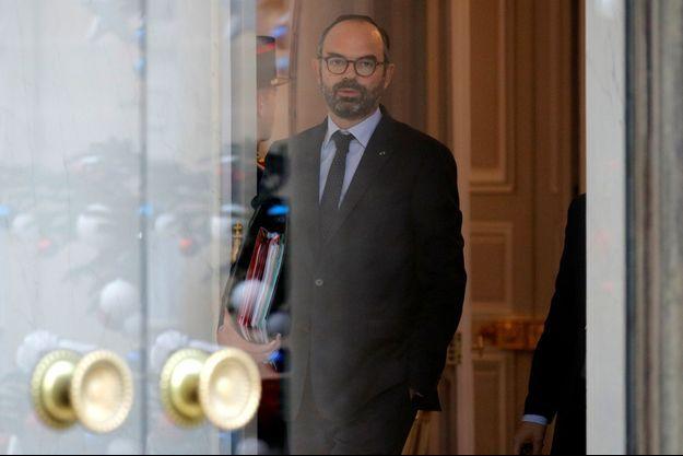 Edouard Philippe, fin décembre à l'Elysée.