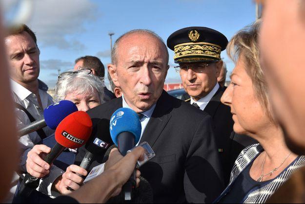 Le ministre de l'Intérieur Gérard Collomb est à Calais pour une visite d'un jour.