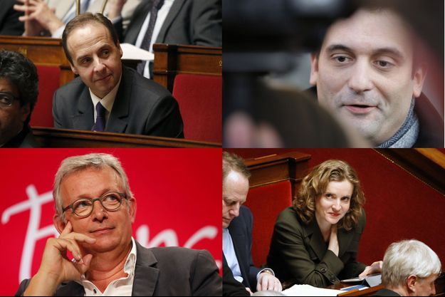 Jean-Christophe Lagarde, Florian Philippot, Pierre Laurent et Nathalie Kosciusko-Morizet.