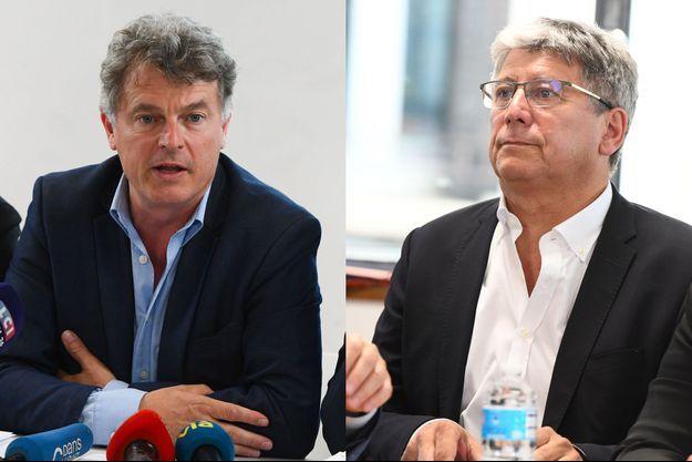Fabien Roussel, secrétaire national du PCF, et Eric Coquerel, député LFI.