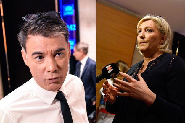 Olivier Faure (PS) et Marine Le Pen (RN) lundi à l'Assemblée nationale.