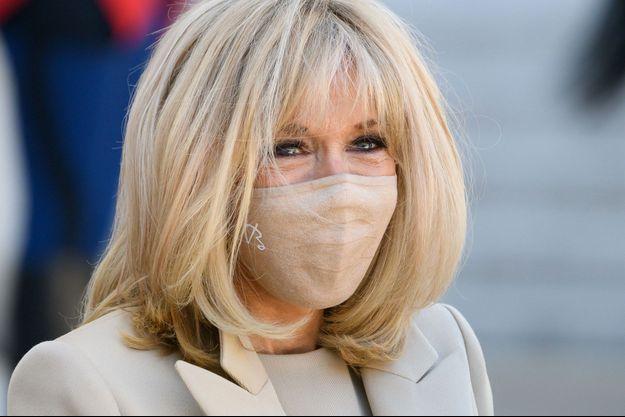 Brigitte Macron, en avril à l'Elysée.