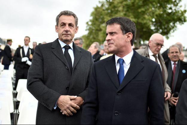 Nicolas Sarkozy et Manuel Valls (photo d'illustration)