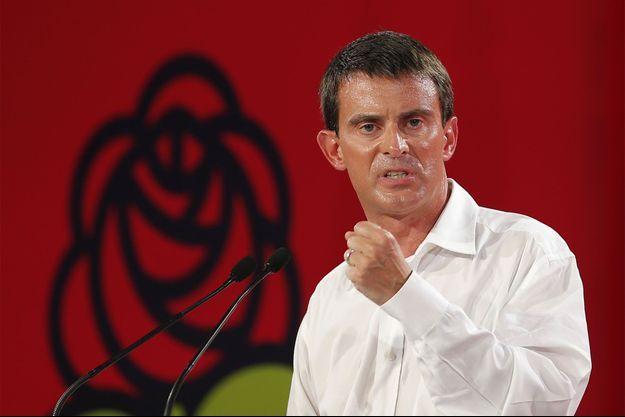 Manuel Valls, dimanche à La Rochelle.