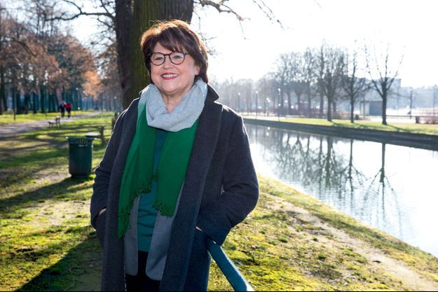Martine Aubry, au parc de la Citadelle, le 6 février.