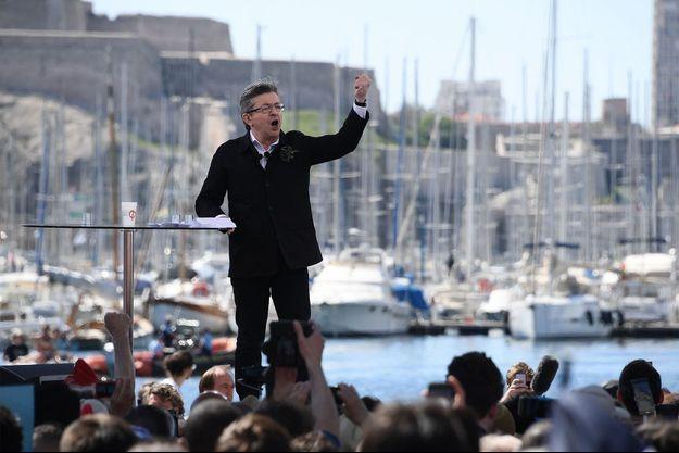 Jean-Luc Mélenchon dimanche à Marseille.