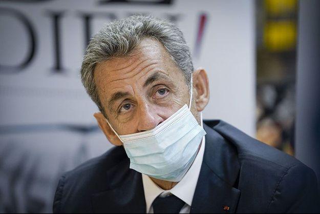 """Nicolas Sarkozy à Bruxelles jeudi pour une dédicace de son livre """"Le Temps des tempêtes""""."""