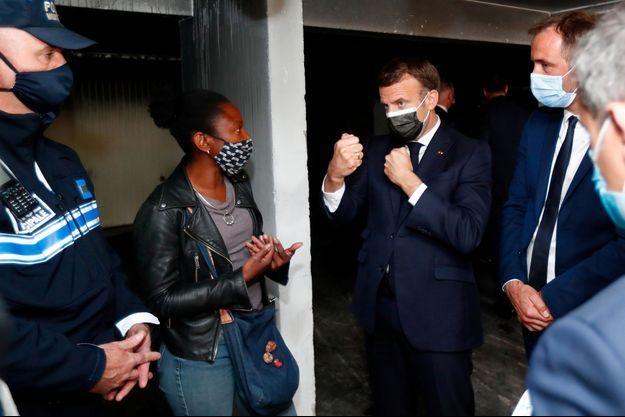Emmanuel Macron a discuté avec des habitants de Montpellier.