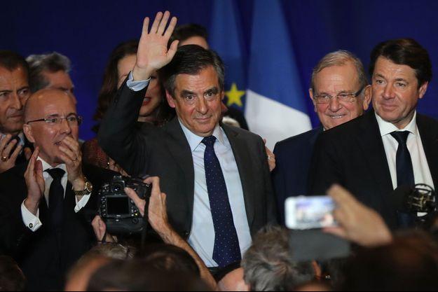 François Fillon, entouré d'Eric Ciotti et de Christian Estrosi