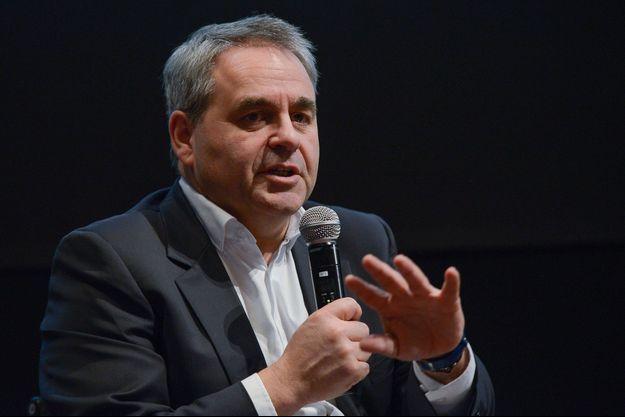 Xavier Bertrand, ici lors d'une conférence à Paris début mars.