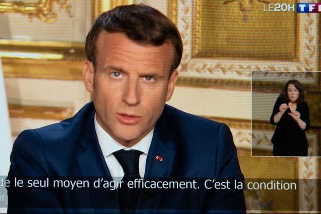 Allocuation d'Emmanuel Macron, lundi 13 avril.