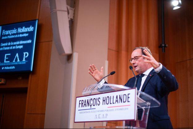 François Hollande à Sciences-Po, mercredi.