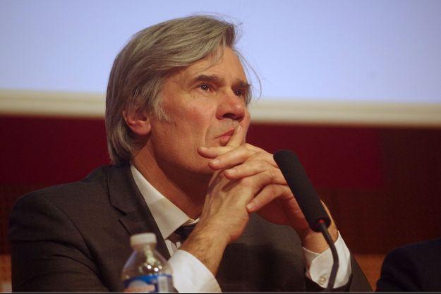 Stéphane Le Foll, porte-parole du Gouvernement, au Grand Oral de Sciences Po Paris, le 25 janvier 2017.