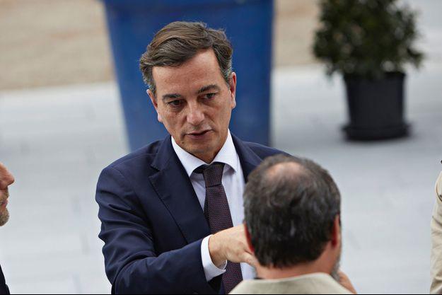 Le candidat LREM à la mairie de Strasbourg Alain Fontanel, ici lors d'une cérémonie en octobre 2019.