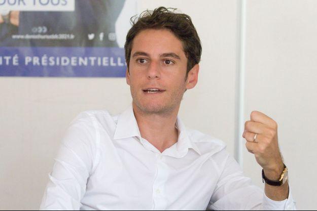Gabriel Attal, ici à Besançon le 18 juin.