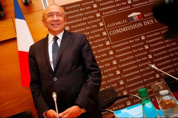 Gérard Collomb à l'Assemblée nationale, lundi, lors de son audition sur l'affaire Benalla.