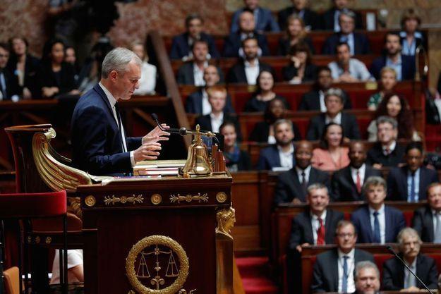 François de Rugy au perchoir de l'Assemblée nationale
