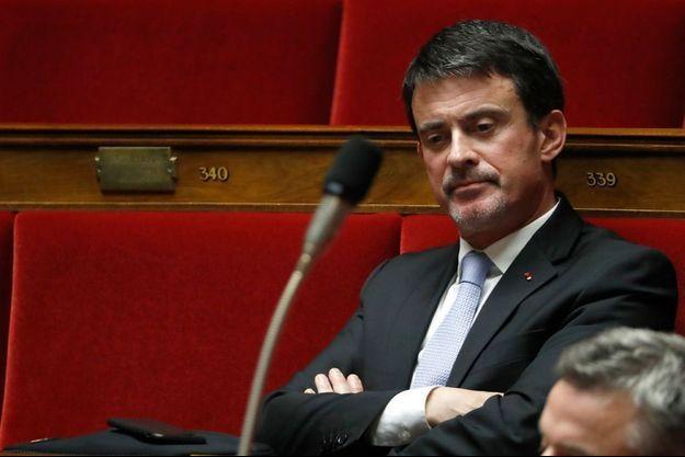 Manuel Valls ici à l'Assemblée nationale.