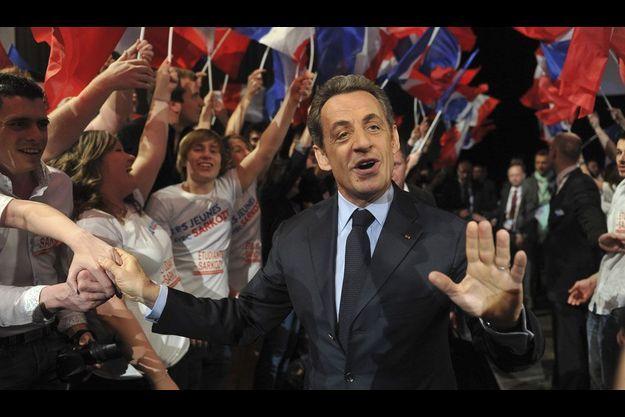 Nicolas Sarkozy à Paris, samedi.