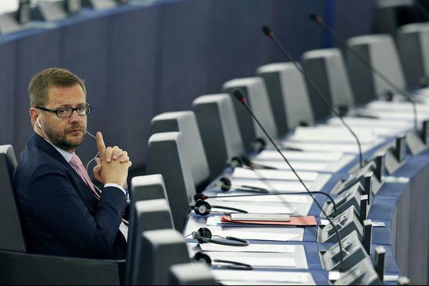 Jérôme Lavrilleux au Parlement européen en mai dernier.