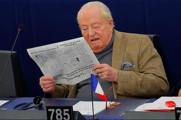 Jean-Marie Le Pen au Parlement européen en mars 2018.