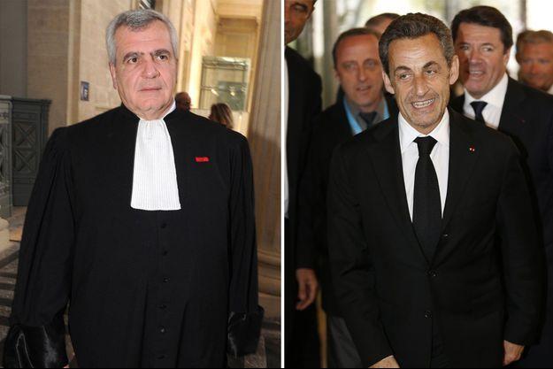 Thierry Herzog et Nicolas Sarkozy (montage réalisée par l'AFP)